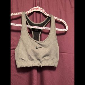 Nike FitDry Sports Bra Large, Gray